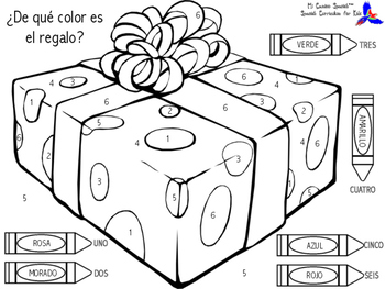 Color by Number in Spanish!
