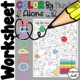 Color by Number of Atoms Worksheet for Understanding Chemical Formulas