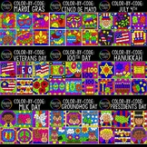 Color by Number or Code: Holidays Bundle 2 {Creative Clips Clipart}