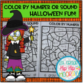 Color by Number or Sound...Halloween Fun!