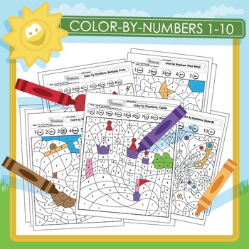 Color by Numbers 1-10 - 19 Pack