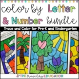 Color by Numbers 1 - 20 and Letter Worksheets Bundle