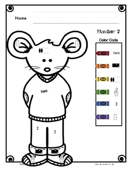 Color-by-Numbers 1 to 10