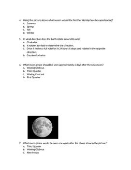 Color by Numbers 8th Grade Science STAAR Review (Earth & Space)