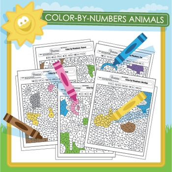 Color-by-Numbers Animals - 10 Pack