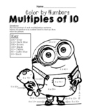 Color by Numbers: Multiplying by Multiples of 10