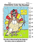 Thanksgiving Color by Number Turkey by Valence Electrons Puzzle Chemistry