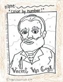 Color by Numbers:  Vincent Van Gogh Self Portrait