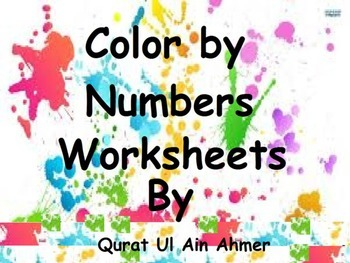 Color by Numbers Worksheets: