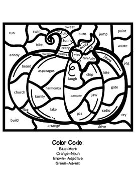 Color by Parts of Speech-Fall Fun!