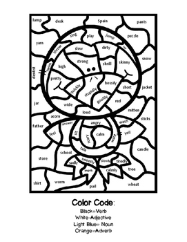 Color by Parts of Speech-Winter Fun!
