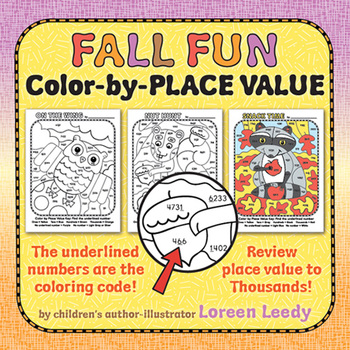 Place Value Color-by-Code Pictures
