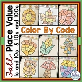Place Value Color by Code Fall Picture Activity