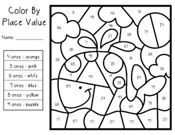 Color by Place Value - Tens and Ones