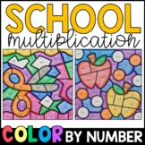 Color by Number: Back to School Multiplication Facts Practice