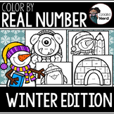 Color by Real Number (Winter Edition) #christmasinjuly18