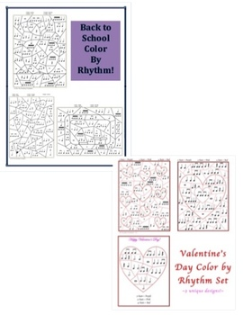 Color by Rhythm Bundle #1 - Spring, Summer, Easter, Valentine's, Back to School