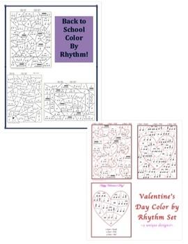 Color by Rhythm Bundle #1 - Spring, Summer, Easter, Valentine's, Back to School