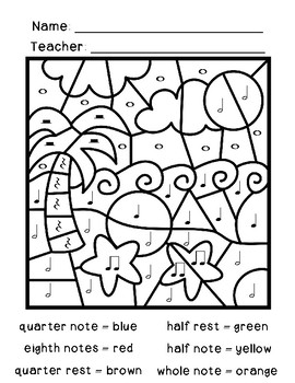 Color by Rhythm: Ocean, Pond, and Pirate Pack
