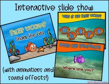 Color by SIGHT WORD - Under the Sea