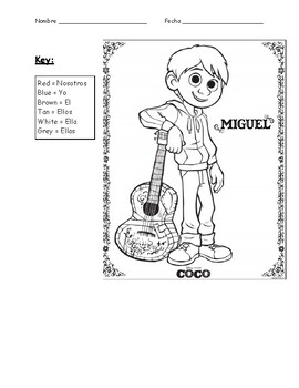 Color-by-Ser Coco Worksheet