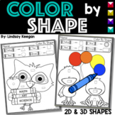 Color by Shapes - 2D and 3D Shapes