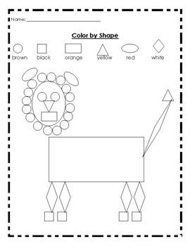 Color by Shape Lion
