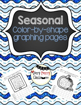 Color and Graph by Shape Seasonal Pages