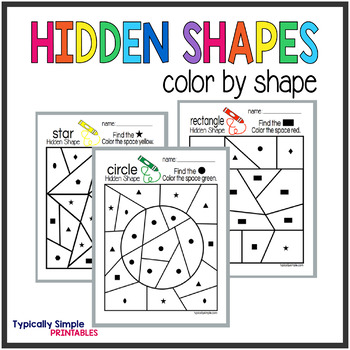 Color by Shapes: Hidden Shapes