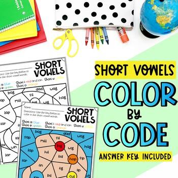 Color by Short Vowel FREEBIE