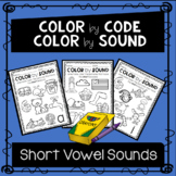 Distance Learning- Color by Short Vowel Sound