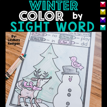 Color by Sight Word - Winter