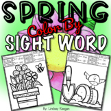 Color by Sight Word Worksheets - Spring Edition