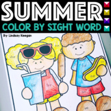 Color by Sight Word - Summer
