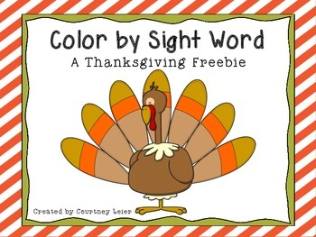 Color by Sight Word - A THANKSGIVING FREEBIE!!