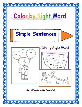Color by Sight Word NO Prep  Activities Kindergarten & First Grade