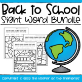 Color by Sight Word Back to School Bundle PERFECT FOR DIST