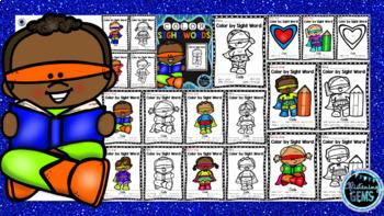 Color by Sight Word Bundle - Pre-Primer, Primer & 1st Grade