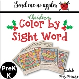 Color by Sight Word {Christmas} Dolch Pre-Primer Sight Words PreK/K