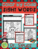 Color by Sight Word: Dr. Seuss Activities
