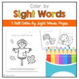 Color by Sight Word: Fall Pack