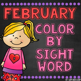 February Color by Sight Word