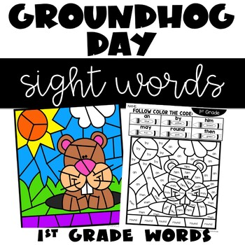 Color by Sight Word February 1st Grade Words