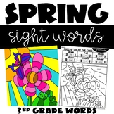 Color by Sight Word May 3rd Grade Words