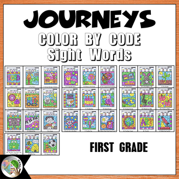 Color by Sight Word First Grade Units 1-6