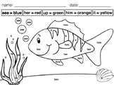 Color by Sight Word - Fish