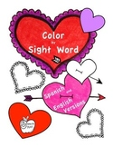 Color by Sight Word: Heart
