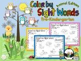 Color by Sight Word Pre-Kindergarten Animal Edition