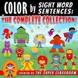 Color by Sight Word Sentences - The Complete Collection
