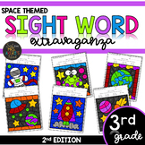 Color by Sight Word | Space Activities | Third Grade Dolch
